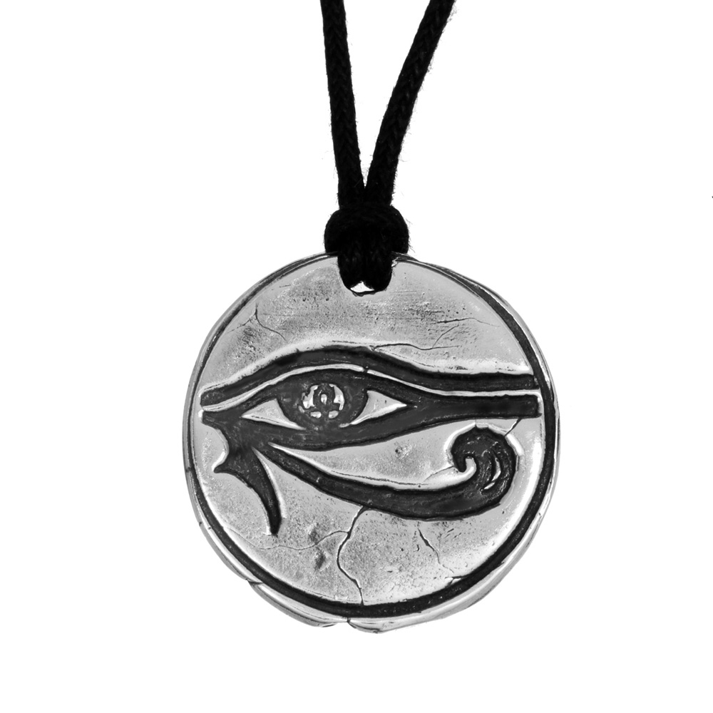 Adam Lambert- Eye Of Horus Pendant- Sterling Silver- by Pennyroyal Jewelry
