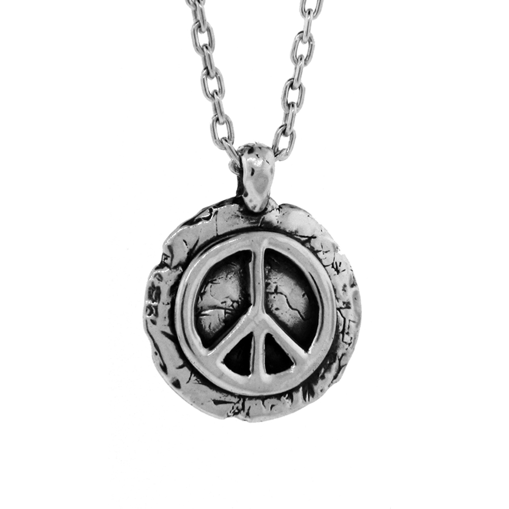Adam Lambert- Peace Pendant- Sterling Silver- by Pennyroyal Jewelry