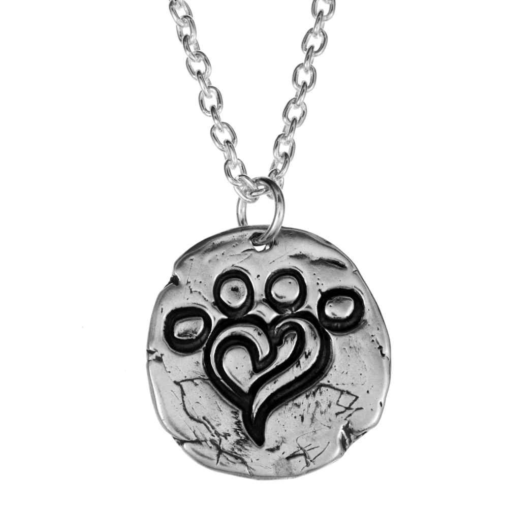 Miranda Lambert- Paw Print Necklace- Sterling Silver- For MuttNation Foundation- by Pennyroyal Jewelry