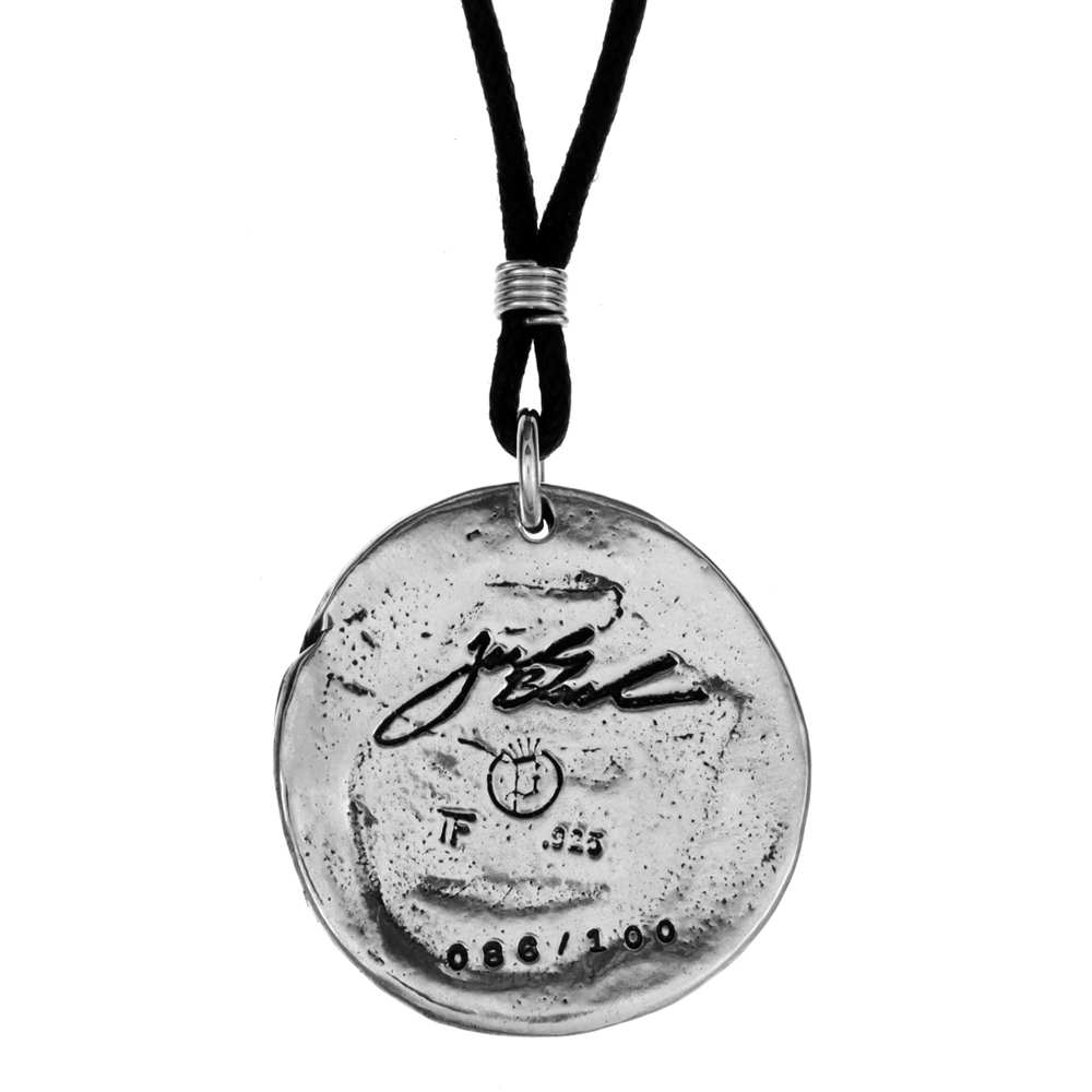 Jack Black- Hand Drawn Pendant- Sterling Silver- by Pennyroyal Jewelry