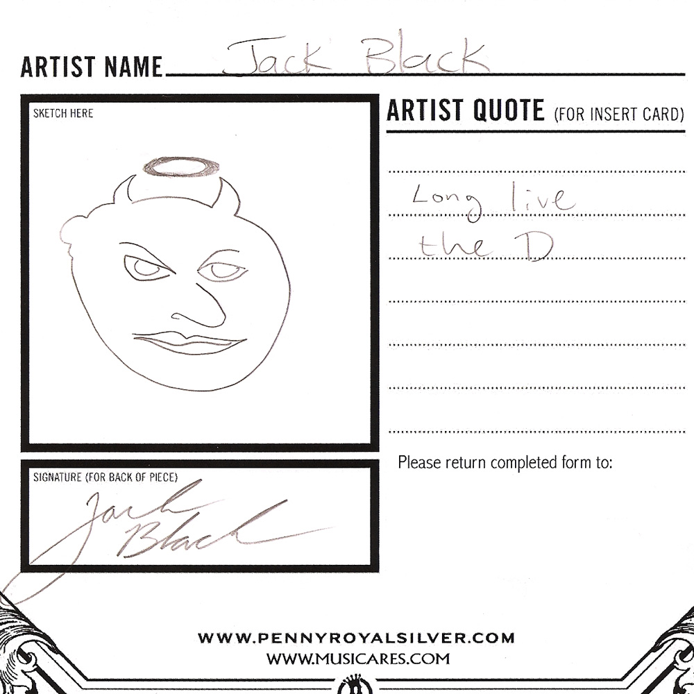 Jack Black- Original Hand Drawn Design- for Pennyroyal Jewelry