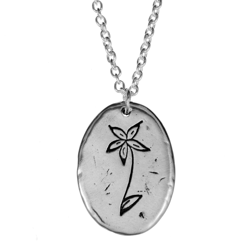 Colbie Caillat- Hand-Drawn Necklace- Sterling Silver- by Pennyroyal Jewelry