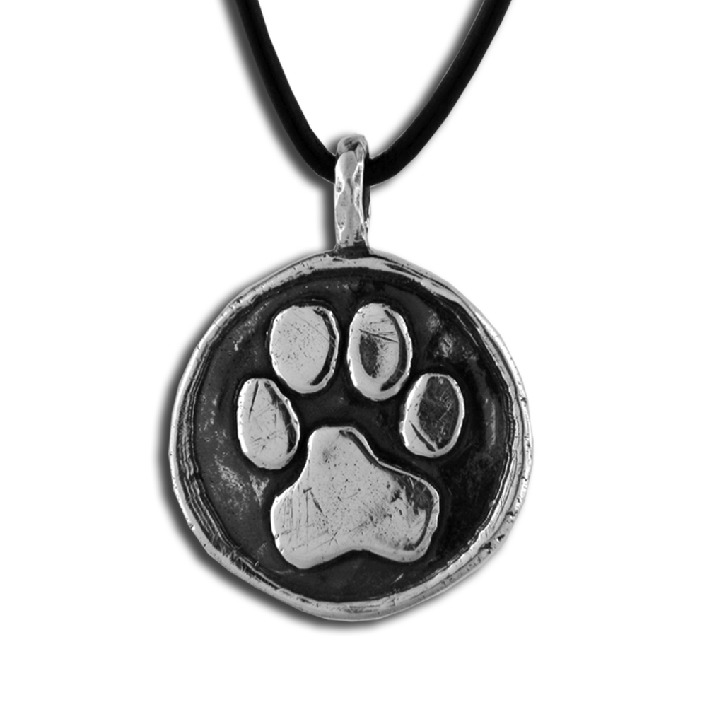 Cesar Millan- Paw Print Pendant- Sterling Silver- by Pennyroyal Jewelry