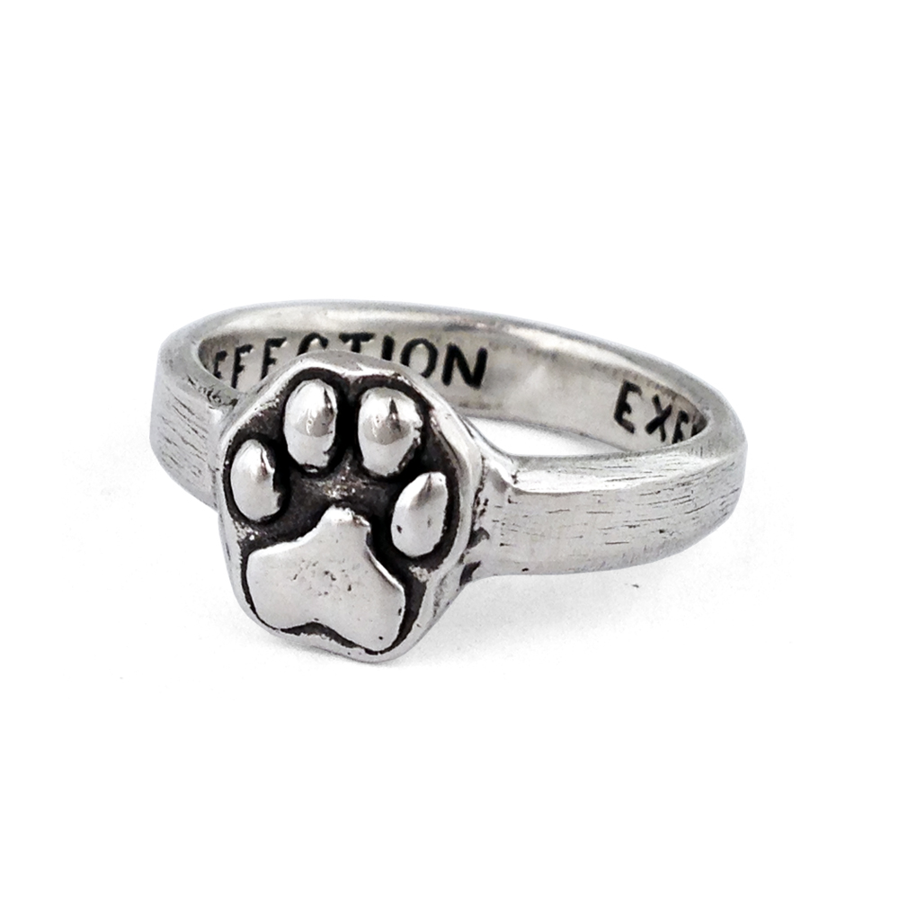 Cesar Millan- Paw Print Ring- Sterling Silver- by Pennyroyal Jewelry