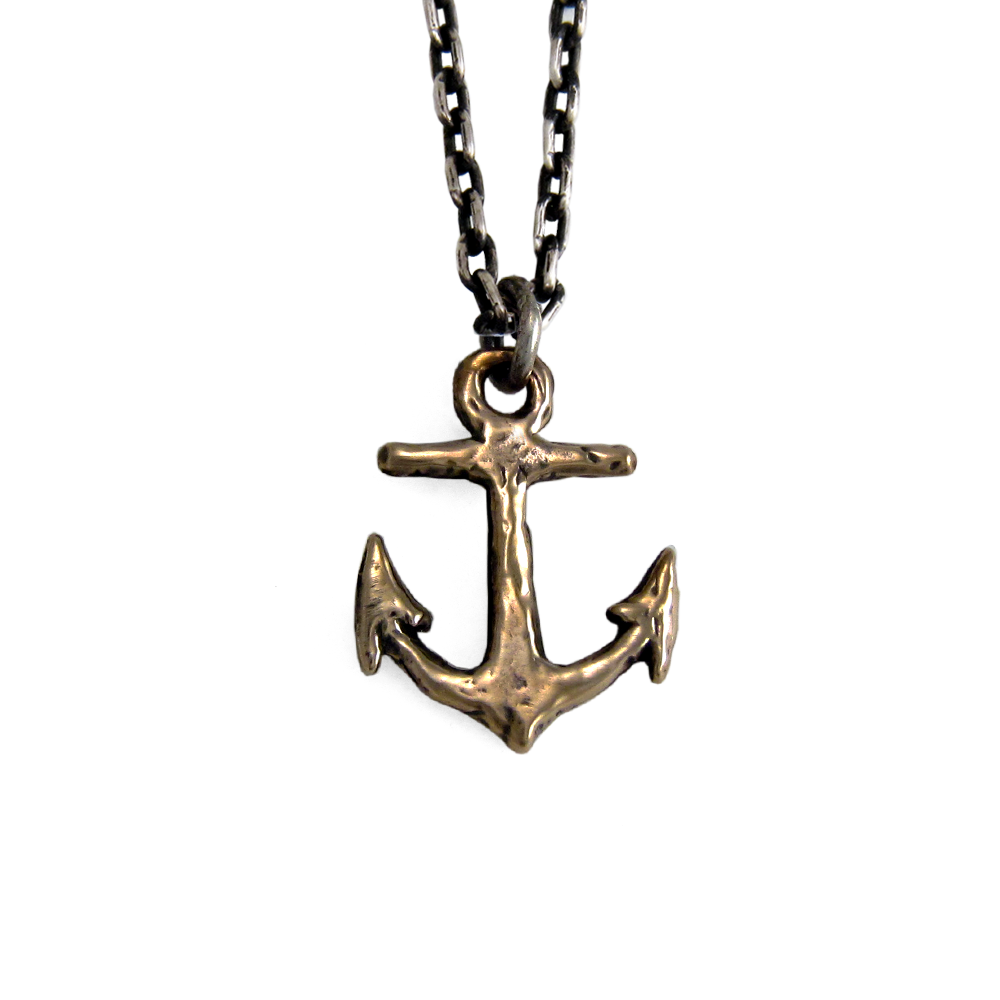 Small Anchor Necklace- Bronze- by Pennyroyal Jewelry