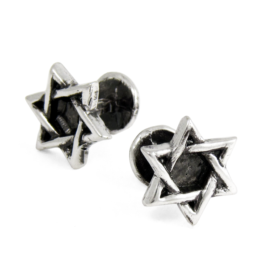 Star of David Cuff Links- Sterling Silver- by Pennyroyal Jewelry