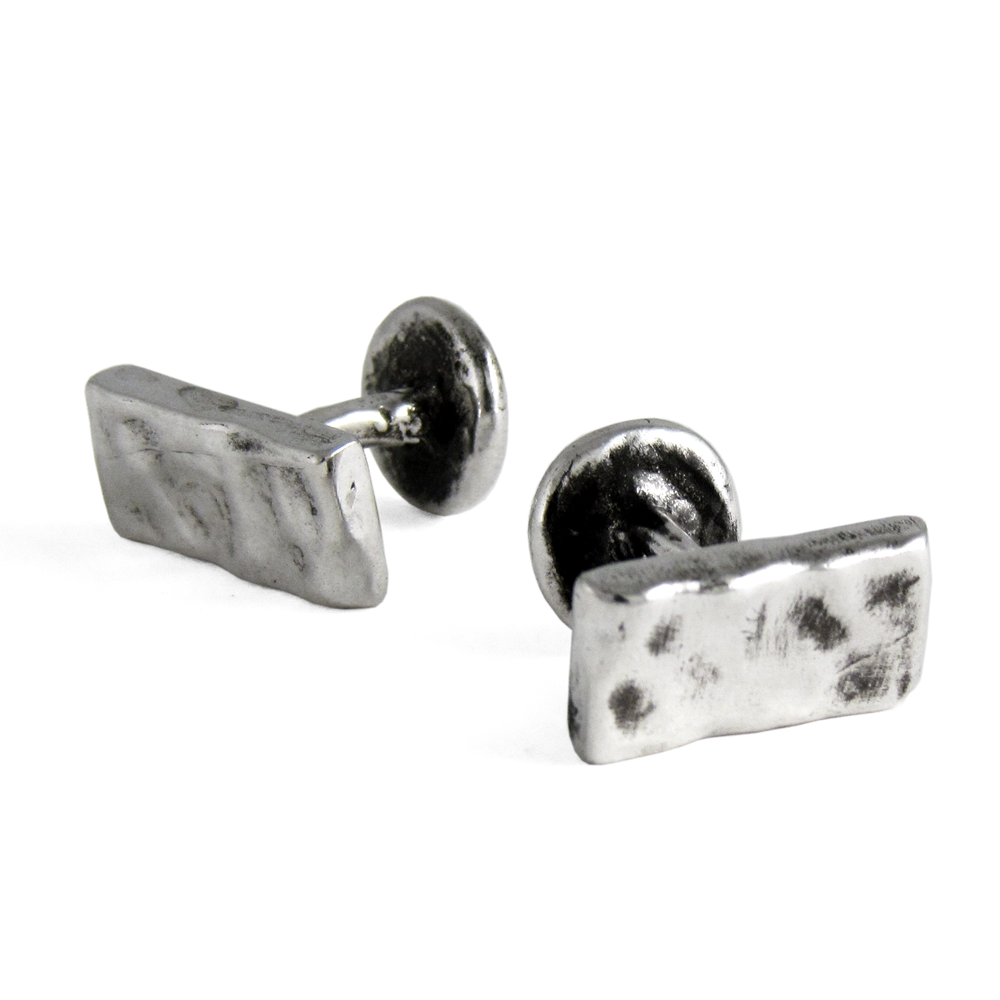 Simple Bar Cuff Links- Sterling Silver- by Pennyroyal Jewelry