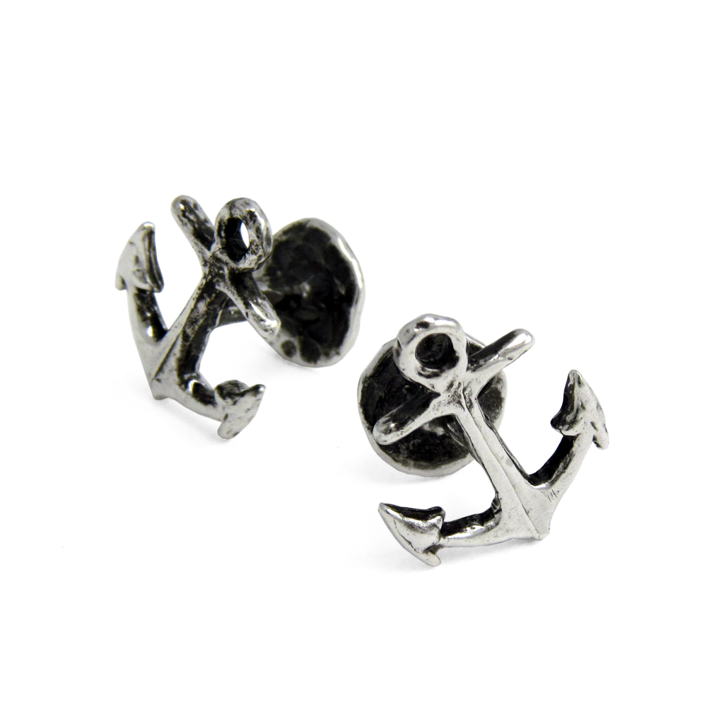 Anchor Cuff Links- Sterling Silver- by Pennyroyal Jewelry