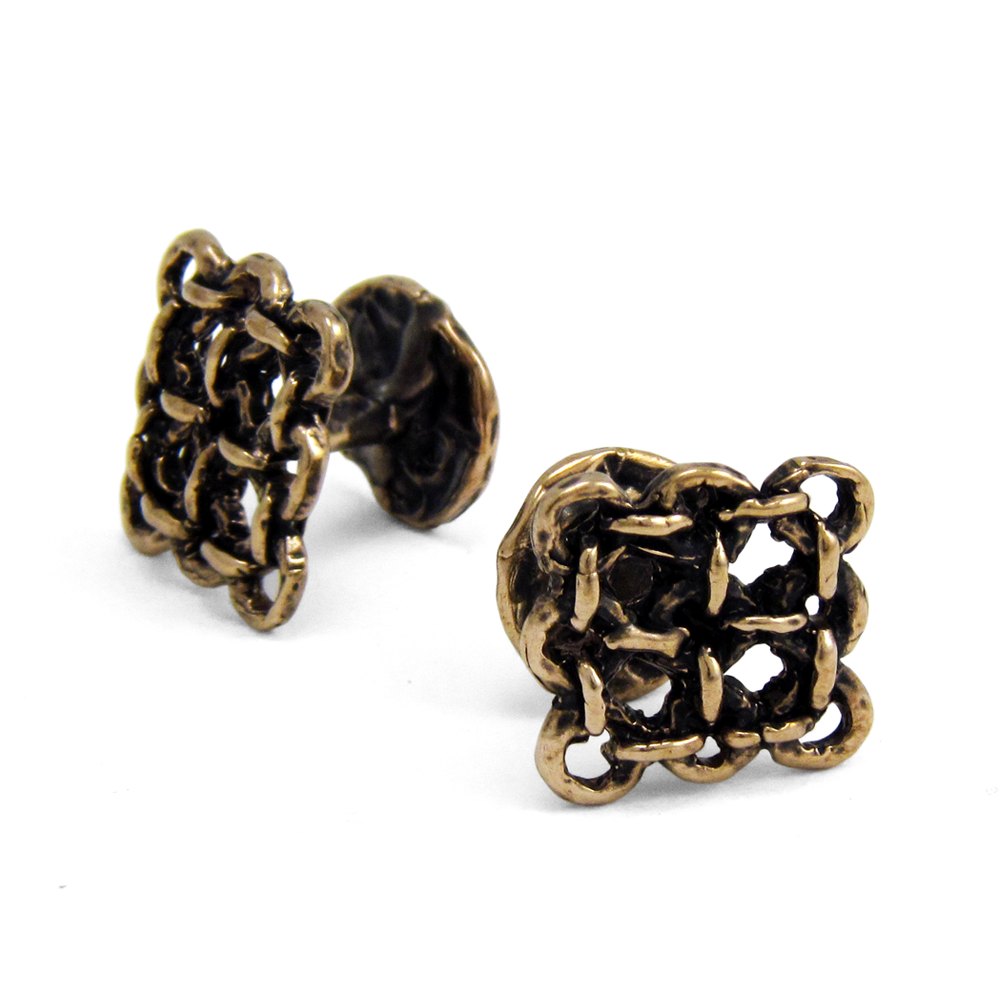 Rampart Cuff Links- Bronze- by Pennyroyal Jewelry