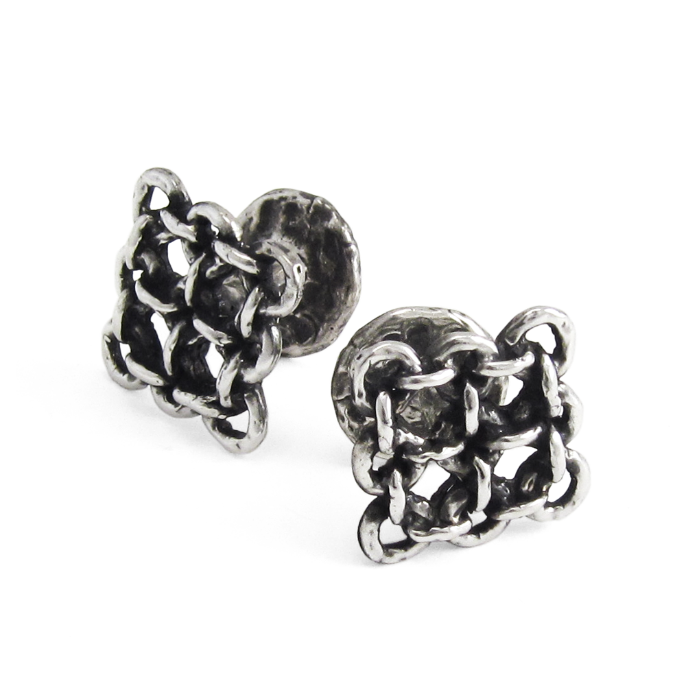 Rampart Cuff Links- Sterling Silver- by Pennyroyal Jewelry