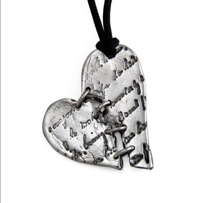 Broken Heart Pendant- Sterling Silver - by Pennyroyal Jewelry