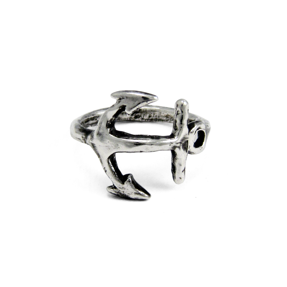 Anchor Ring- Sterling Silver- by Pennyroyal Jewelry