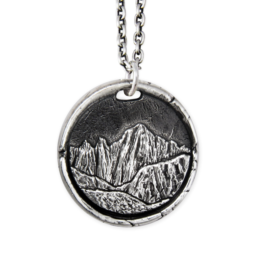 Mount Whitney Pendant- Sterling Silver- by Pennyroyal Jewelry