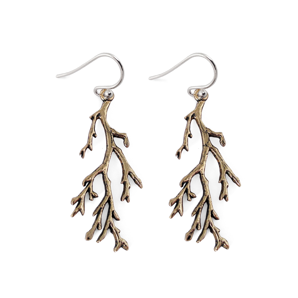 Branches Earrings- Bronze- by Pennyroyal Jewelry