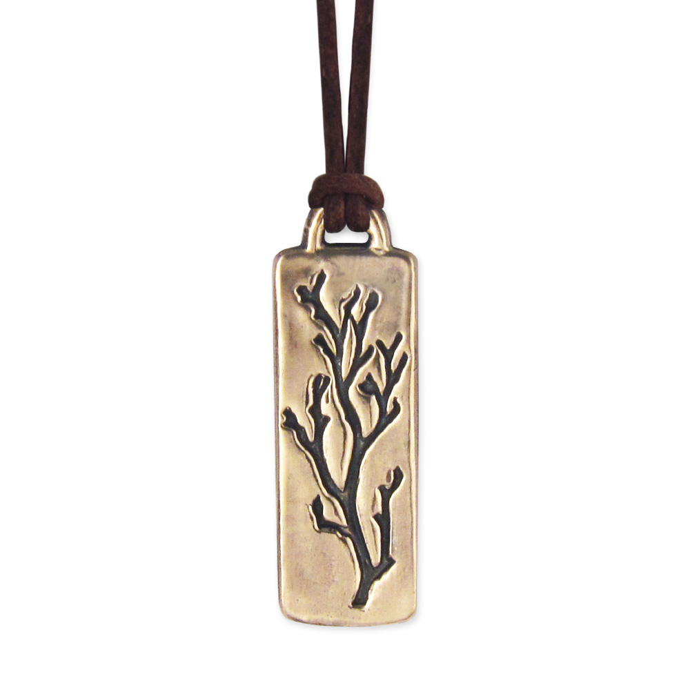 Bare Branches Pendant- Bronze- by Pennyroyal Jewelry