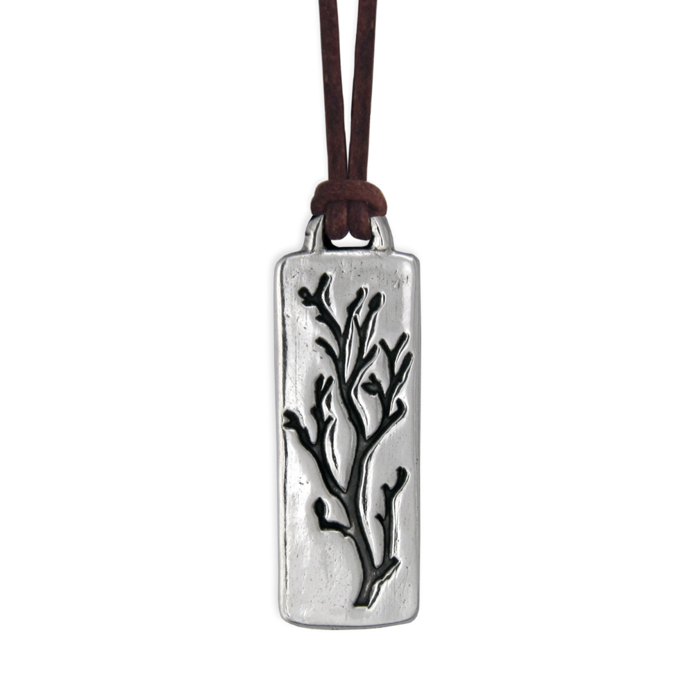 Bare Branches Pendant- Sterling Silver- by Pennyroyal Jewelry