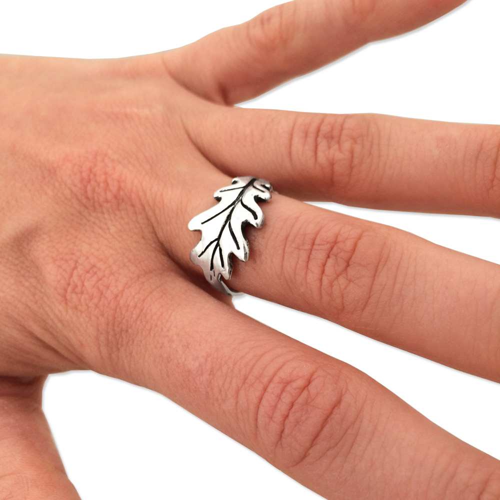 Oak Leaf Ring- Sterling Silver- by Pennyroyal Jewelry