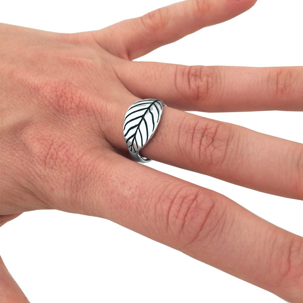 Leaf Ring- Sterling Silver- by Pennyroyal Jewelry