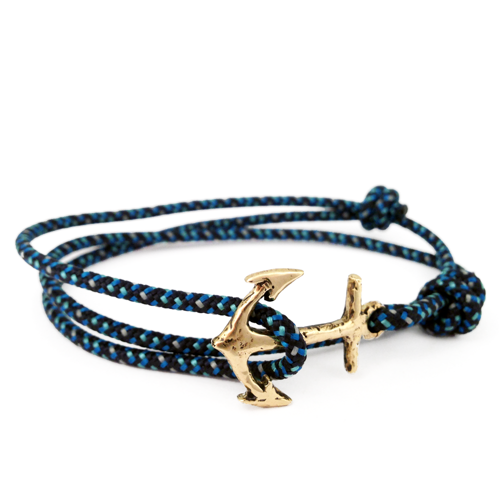 Anchor Wrap Bracelet- Brass- by Pennyroyal Jewelry