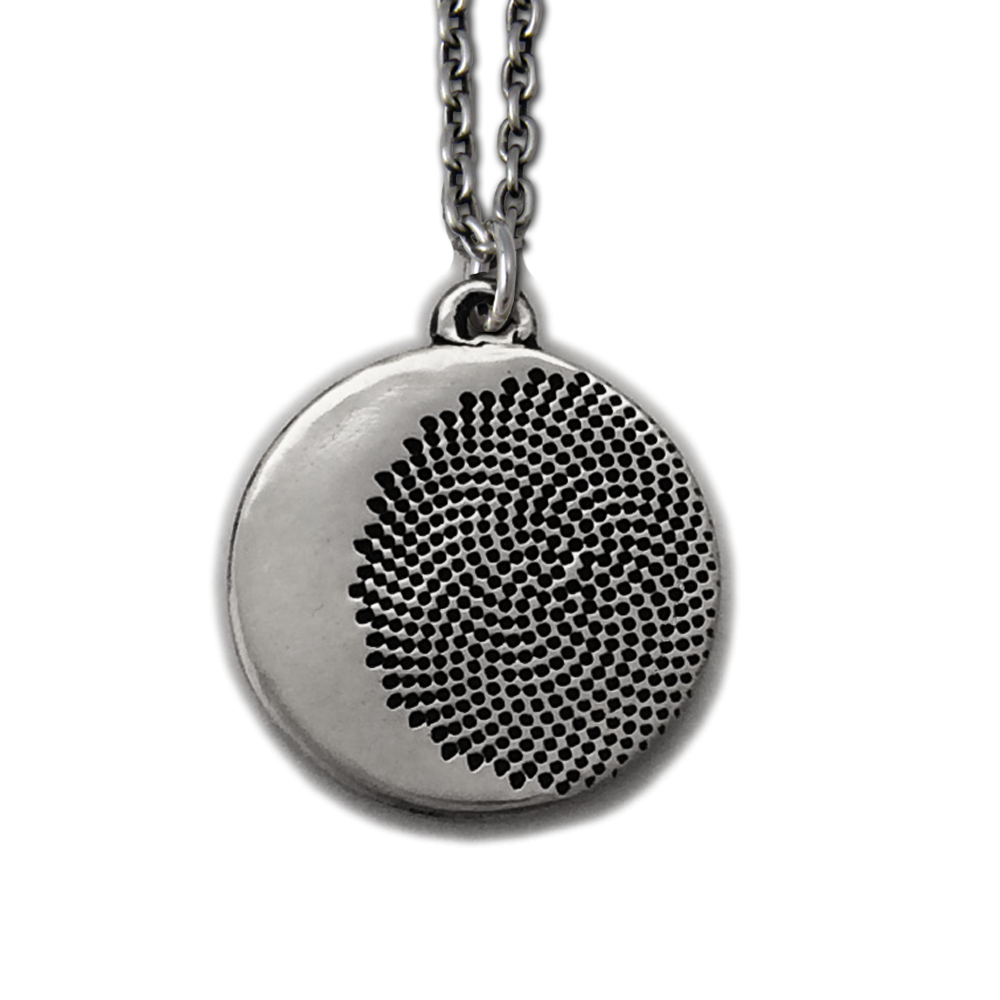 Fibonacci Moon Pendant- Sterling Silver- by Pennyroyal Jewelry