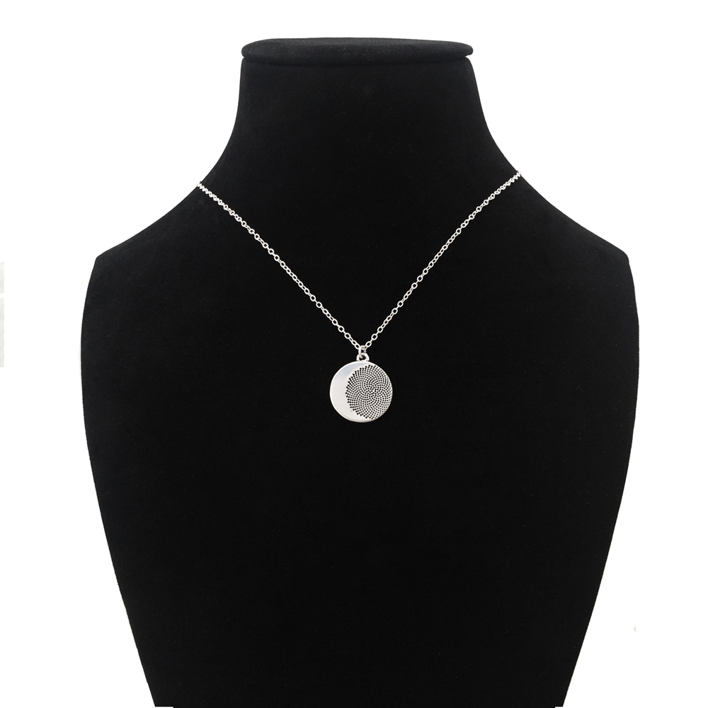 Fibonacci Moon Necklace- Sterling Silver- by Pennyroyal Jewelry
