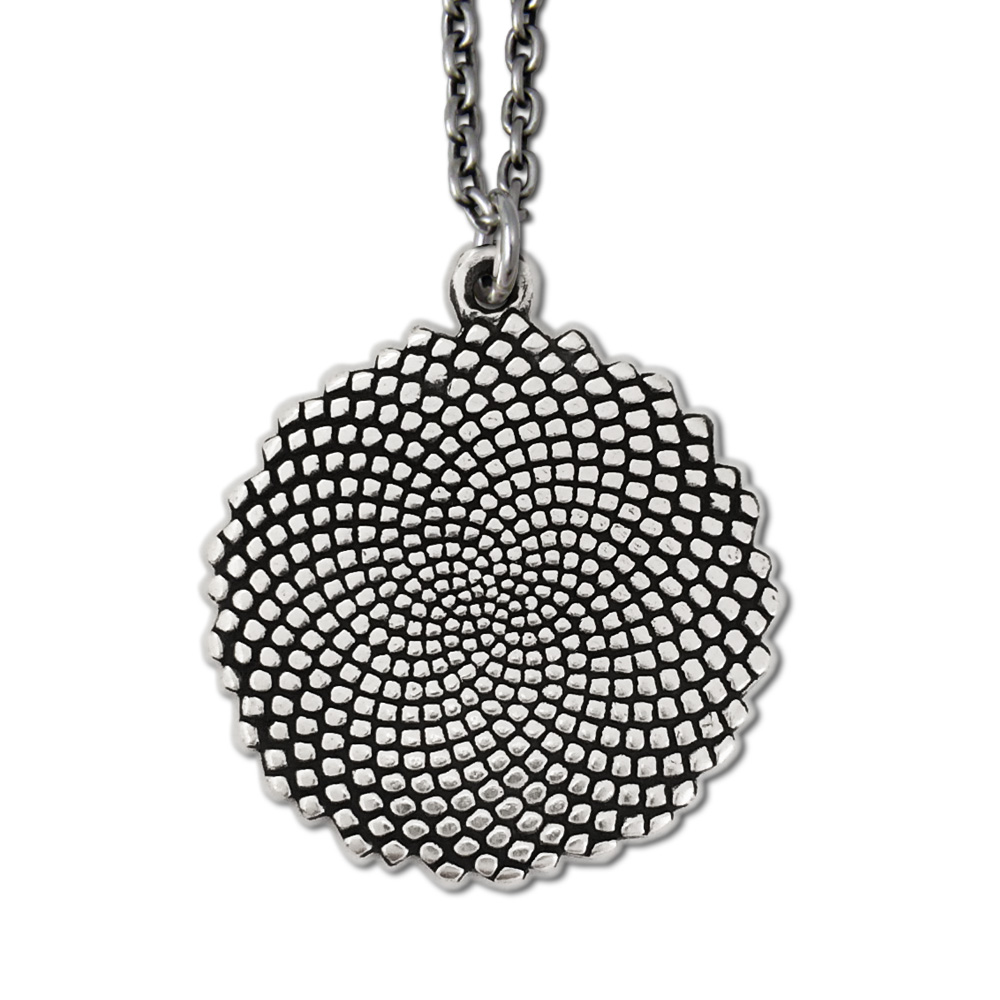 Large Fibonacci Pendant- Sterling Silver- by Pennyroyal Jewelry