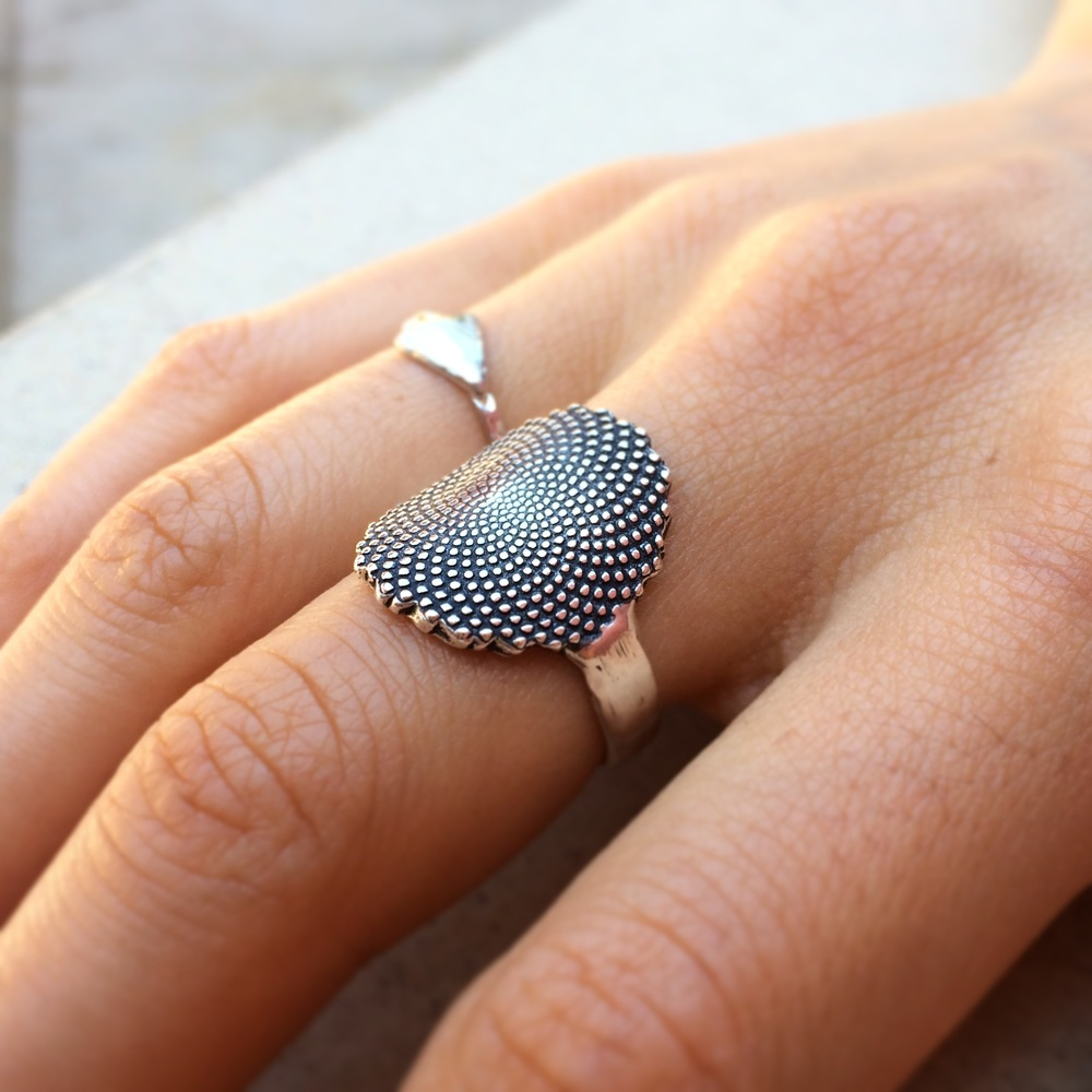 Fibonacci Ring- Sterling Silver- by Pennyroyal Jewelry