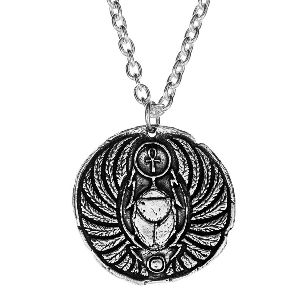 Winged Scarab Pendant- Sterling Silver - by Pennyroyal Jewelry