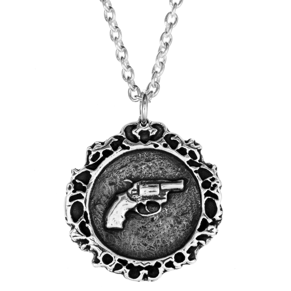 Janie Gun Pendant- Sterling Silver- by Pennyroyal Jewelry