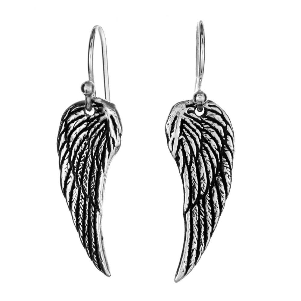 Wing Earrings- Sterling Silver- by Pennyroyal Jewelry