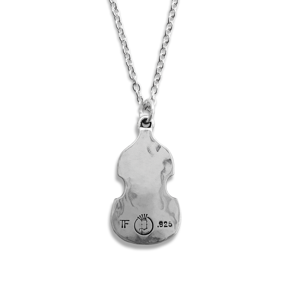 Paul McCartney- Bass Body Necklace- Sterling Silver- By Pennyroyal Jewelry