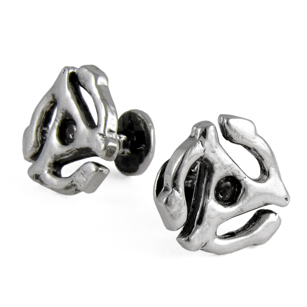 Sm 45 Adapter Cufflinks- Sterling Silver- by Pennyroyal Jewelry