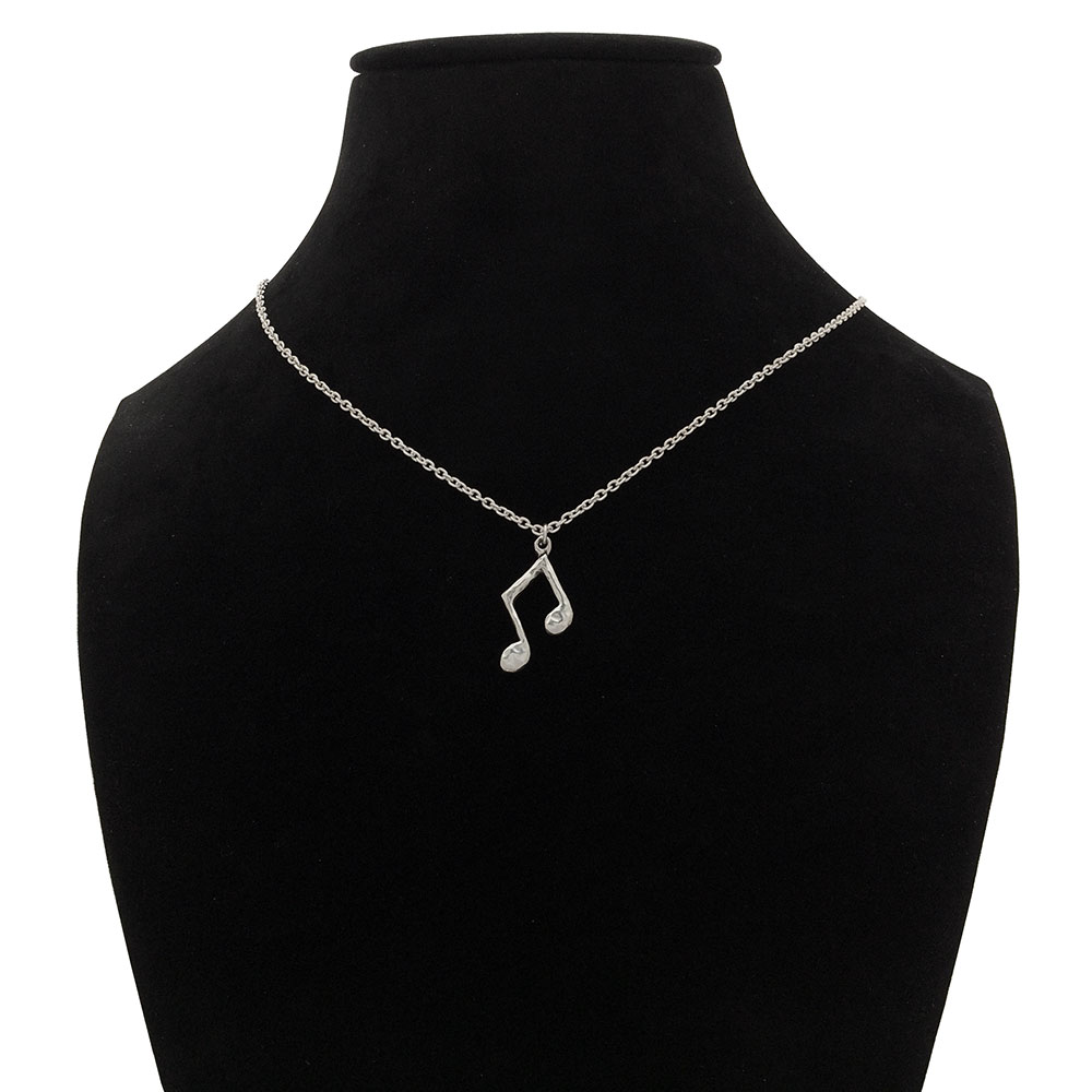 Music Notes Pendant- Sterling Silver- by Pennyroyal Jewelry