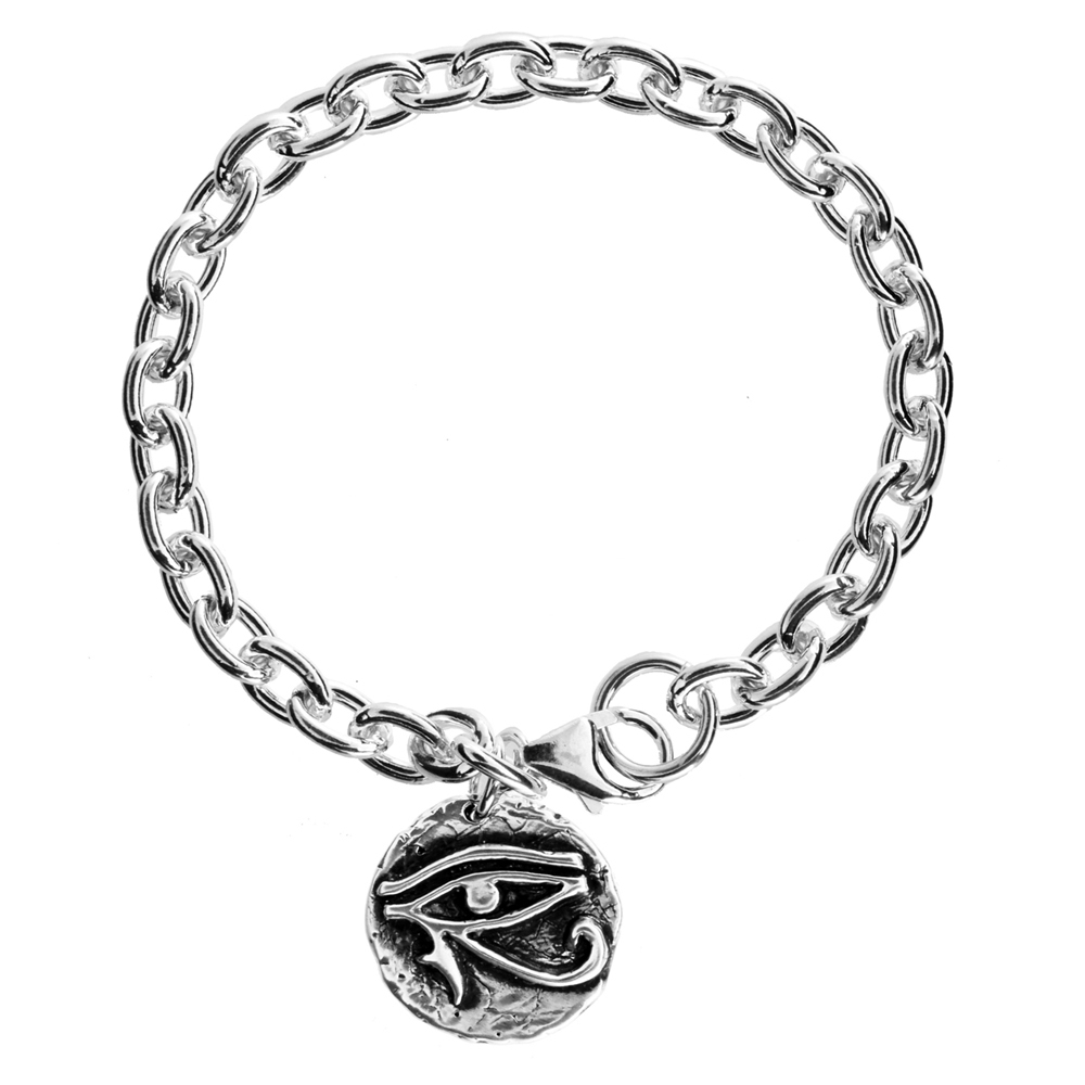 Eye of Horus Bracelet- Sterling silver- by Pennyroyal Jewelry