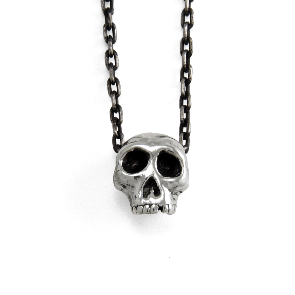 3D Skull Pendant- Sterling Silver- by Pennyroyal Jewelry