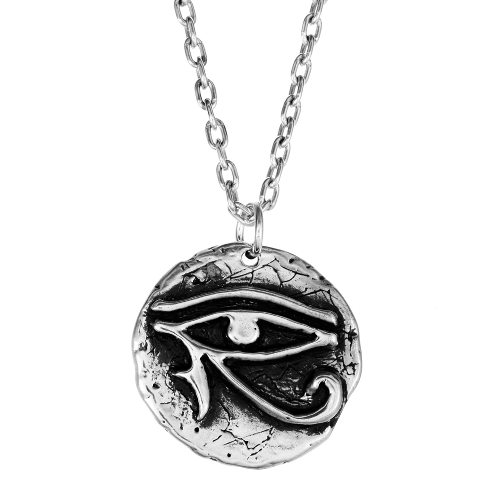 Eye of Horus Pendant- Sterling Silver- by Pennyroyal Jewelry