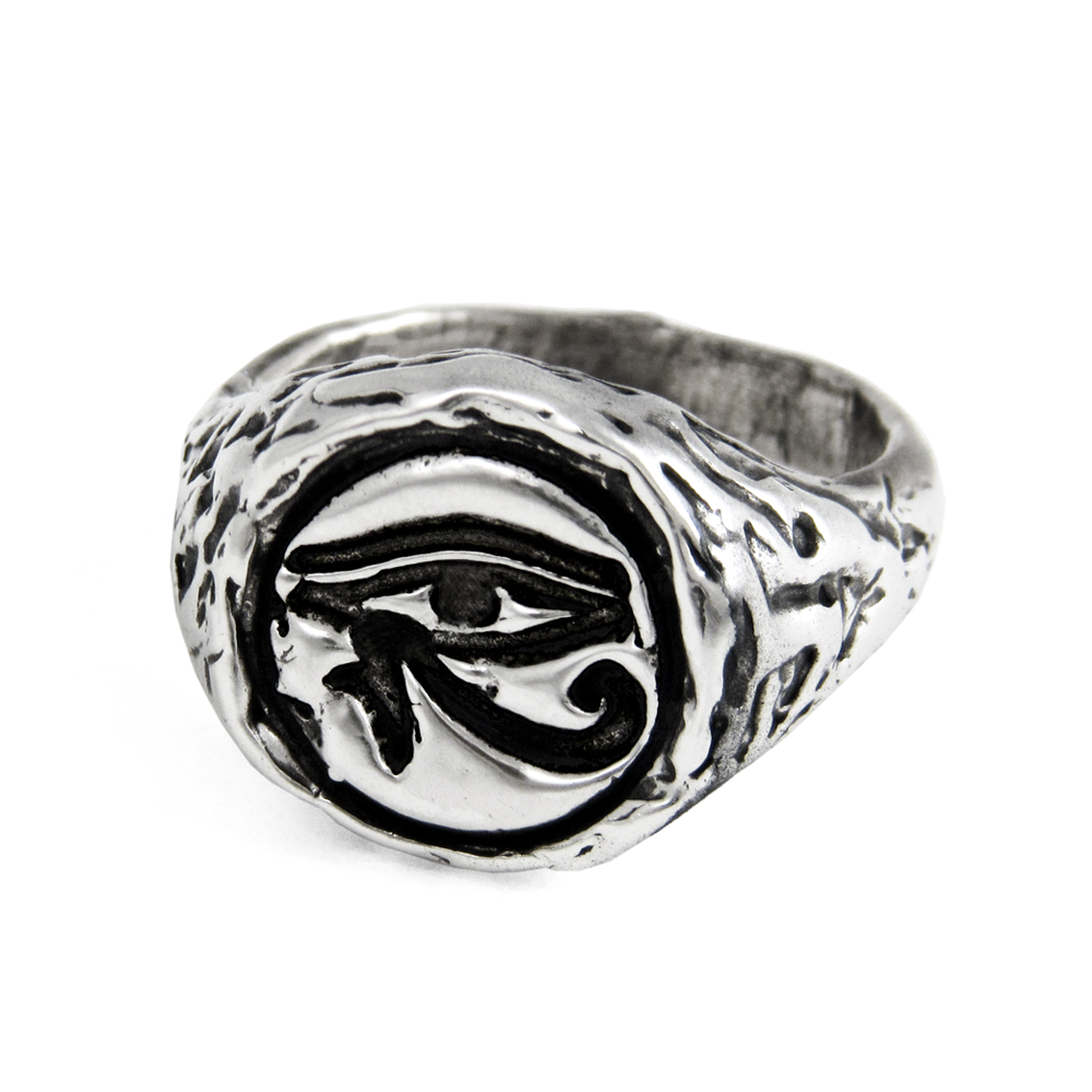 Eye of Horus Ring- Sterling Silver- by Pennyroyal Jewelry