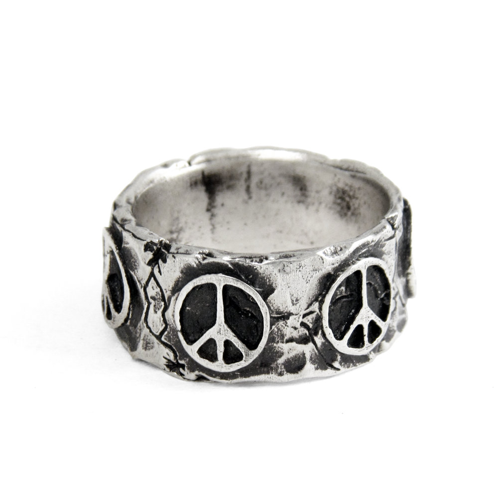 Peace Ring- Sterling Silver- by Pennyroyal Jewelry
