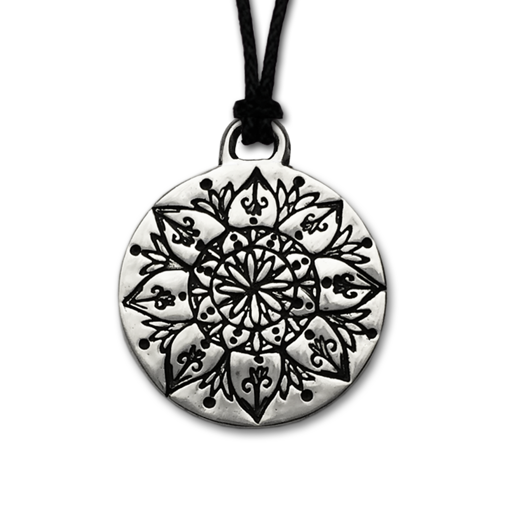 Mandala Pendant- Drawn By Jasmine Ayala- Sterling Silver- by Pennyroyal Jewelry