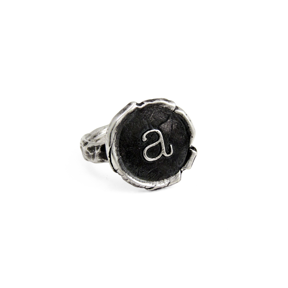 Alphabet Ring- Sterling Silver- by Pennyroyal Jewelry
