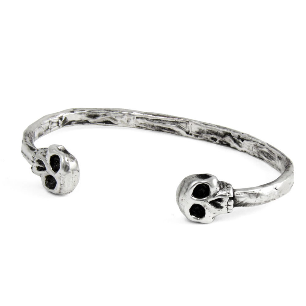 Skull Cuff- Sterling Silver- by Pennyroyal Jewelry