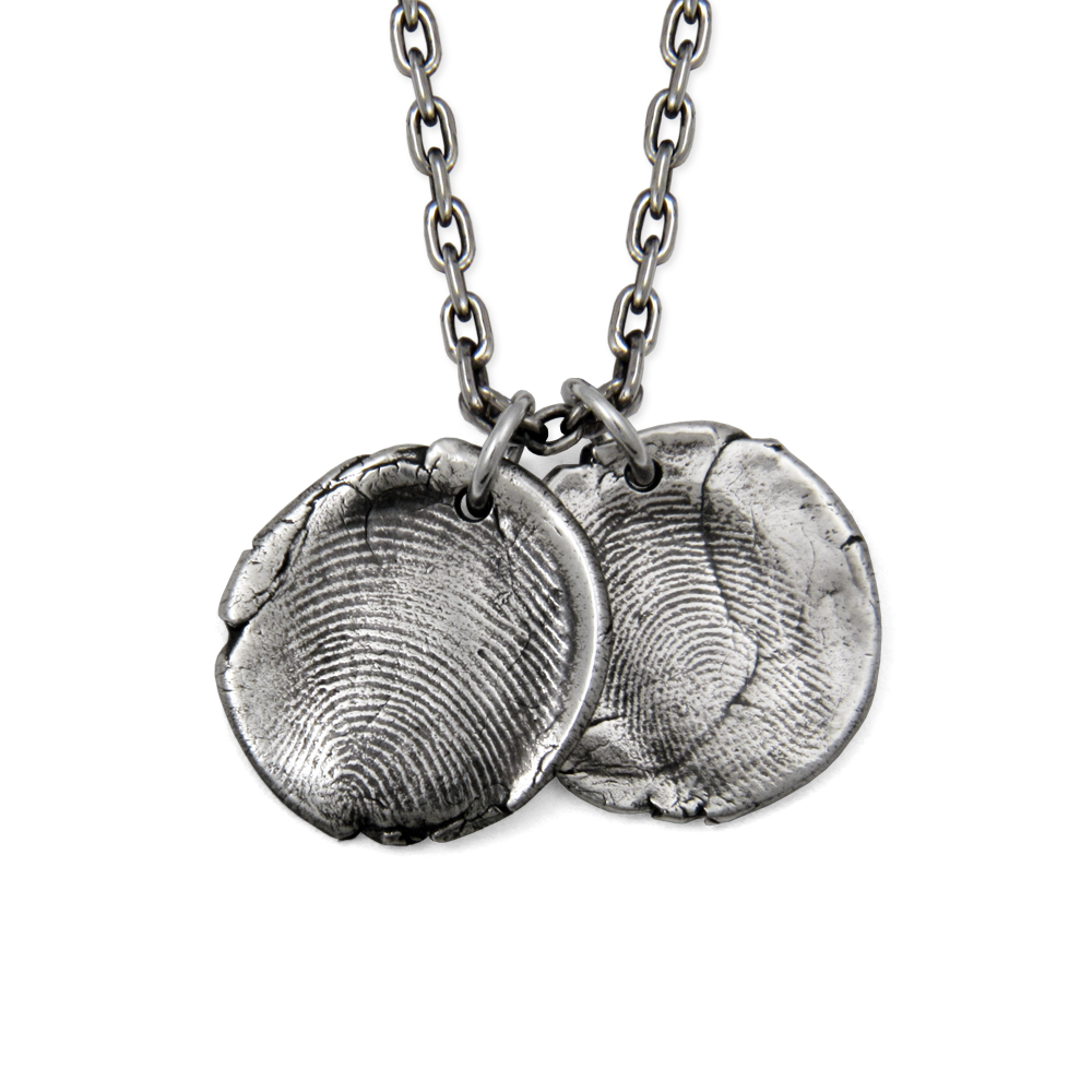 Fingerprint Pendants- Sterling Silver- by Pennyroyal Jewelry