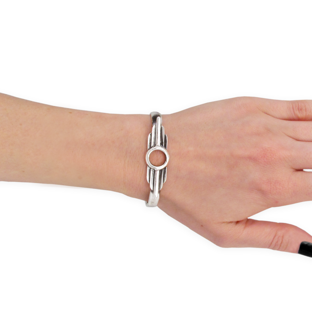 Aero Cuff- Sterling Silver- Empire Collection- by Pennyroyal Jewelry