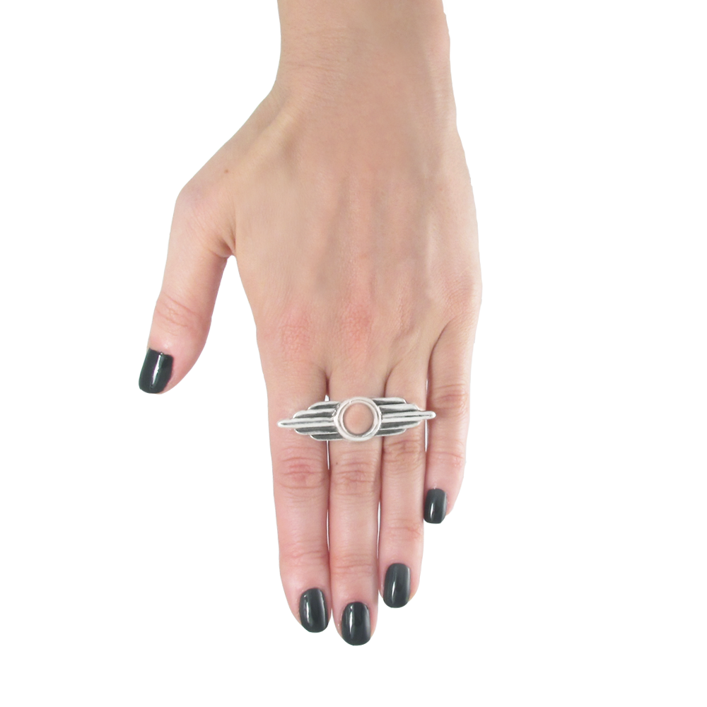 Aero Ring- Sterling Silver- Empire Collection- by Pennyroyal Jewelry