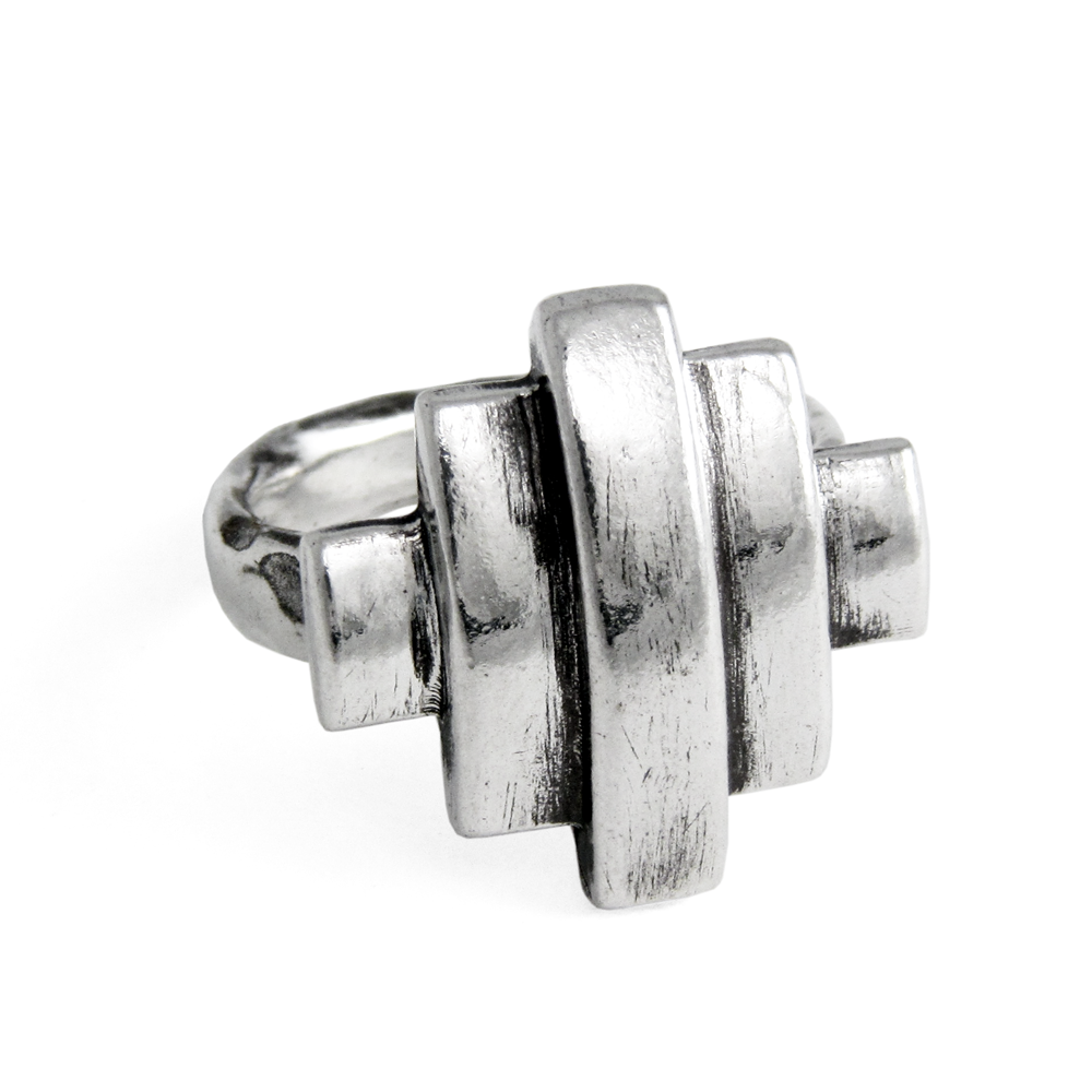 Paramount Ring- Sterling Silver- Empire Collection- by Pennyroyal Jewelry
