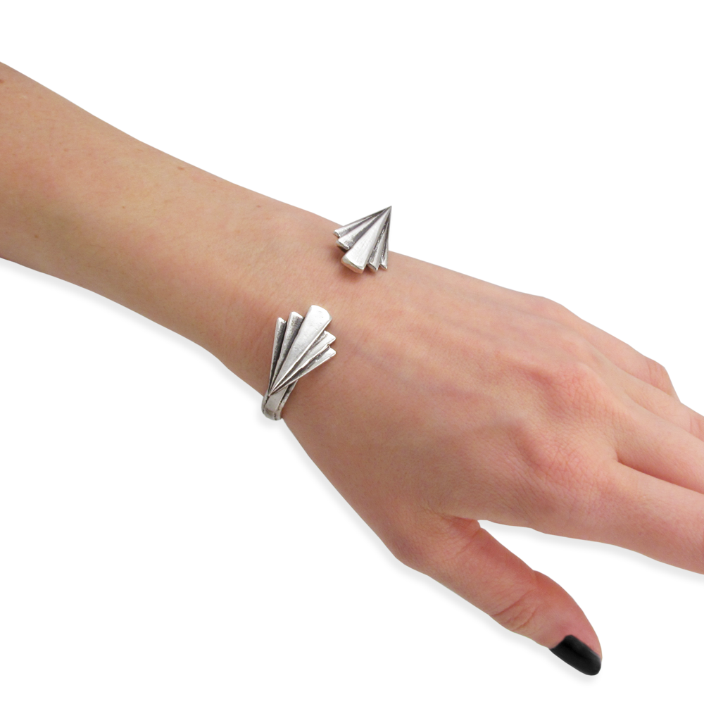 Keystone Cuff- Sterling Silver- Empire Collection- by Pennyroyal Jewelry