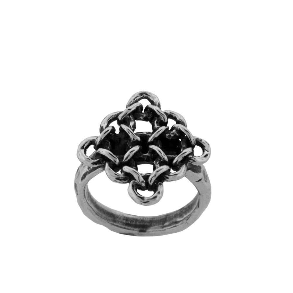Rampart Ring- Sterling Silver- by Pennyroyal Jewelry
