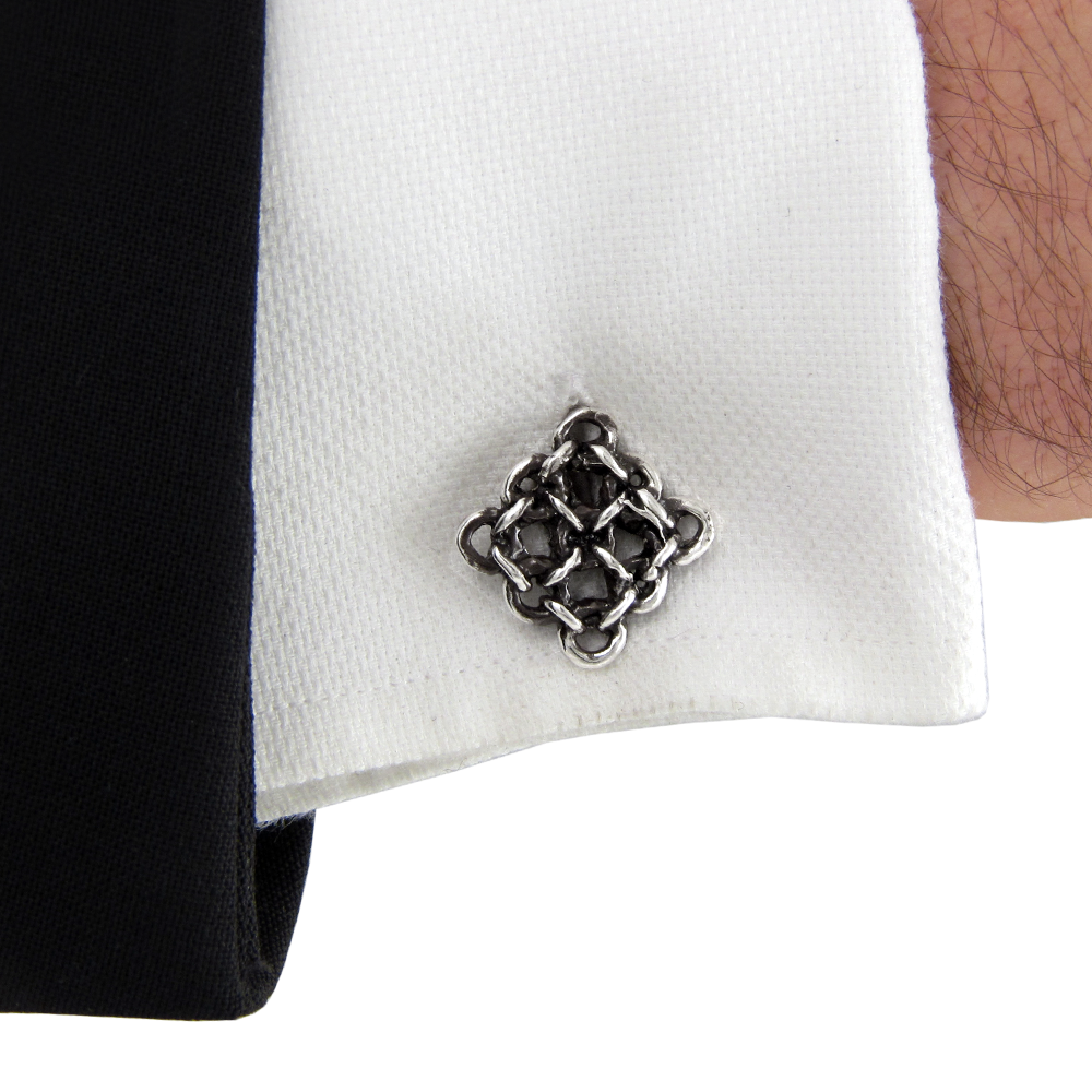 Rampart Cufflinks- Sterling Silver- by Pennyroyal Jewelry