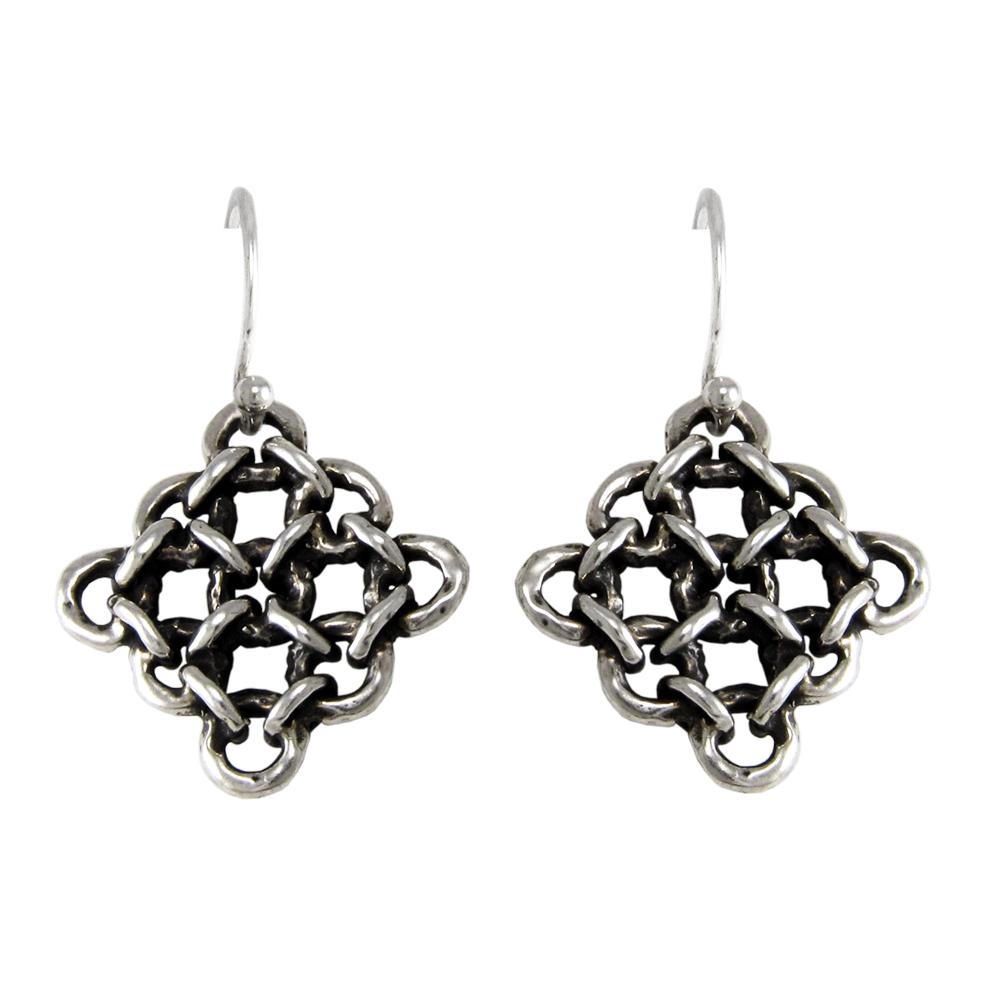 Rampart Earrings- Sterling Silver- by Pennyroyal Jewelry