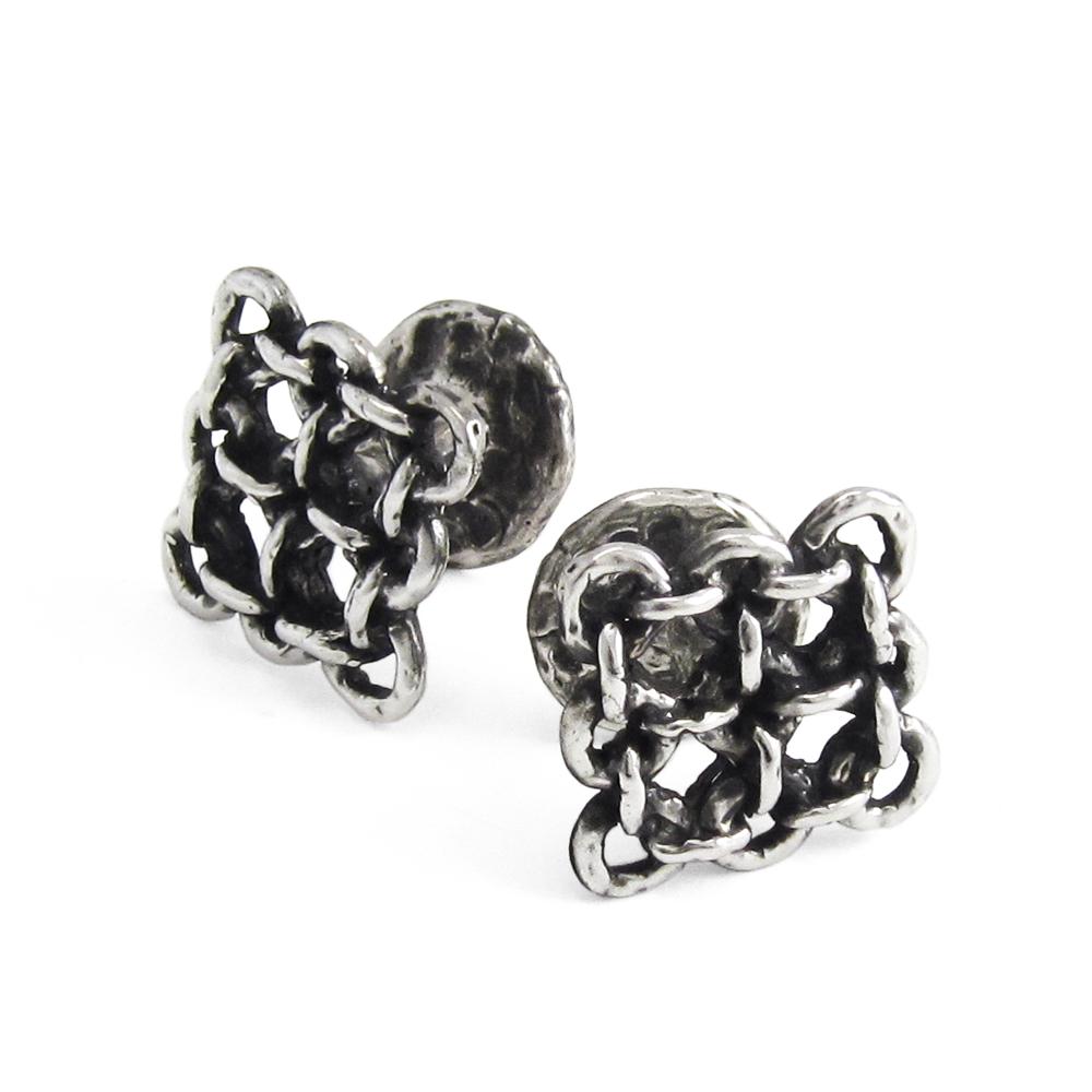 Rampart Cufflinks- Sterling Silver- by Pennyroyal Jewelry